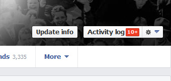 Facebook manage activity log