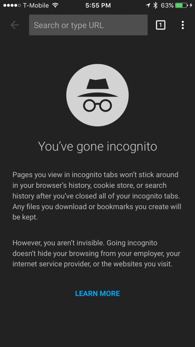how to go incognito on mac firefox