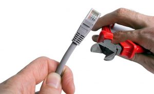Cutting an Ethernet Cable