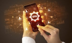 an image of a person connecting to a vpn network
