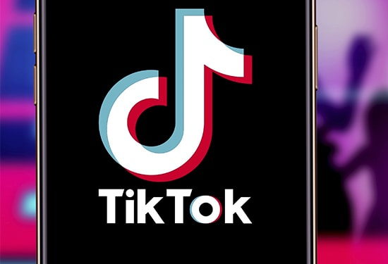 TikTok running on an iPhone device