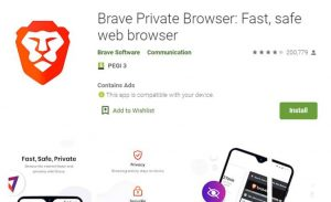 Brave Browser Playstore Image