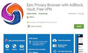Epic Privacy Browser Playstore Image
