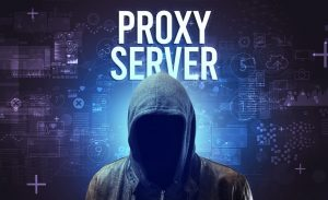 an image of a person in a hoodie using a proxy server