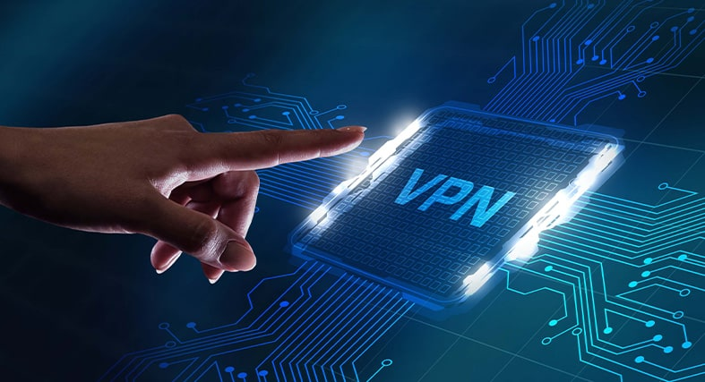 an image of a person pointing at a vpn network