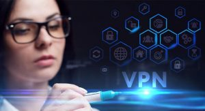 an image of a woman in glases pointing at a vpn with a marker