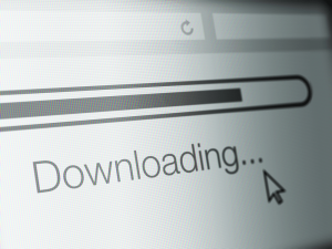 Downloading progress bar on screen