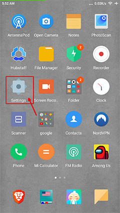 An image featuring how to uninstall some apps on Android step1