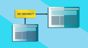 An image featuring one server to another redirecting representing redirection