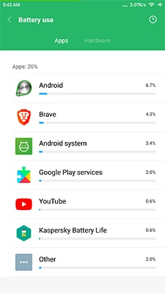 An image featuring how to check your battery on Android step5