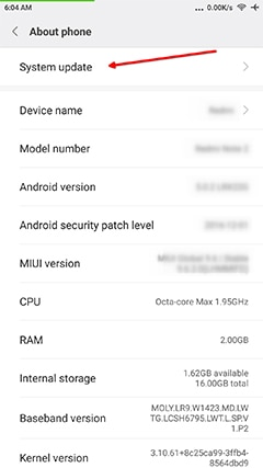 An image featuring how to update your Android device step3