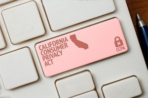 An image featuring a keyboard that has a California Consumer Privacy Act button