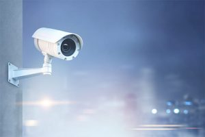 An image featuring a CCTV camera representing privacy of location concept