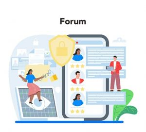 An image featuring a privacy forum concept