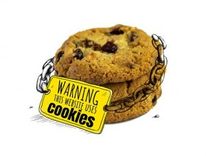 An image featuring computer cookies safety concept
