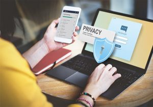 An image featuring online privacy concept