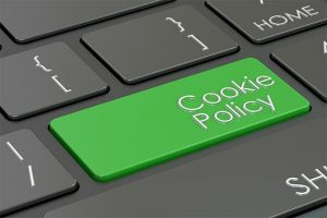 An image featuring cookie policy concept