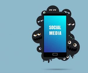 An image featuring the risks of social media concept