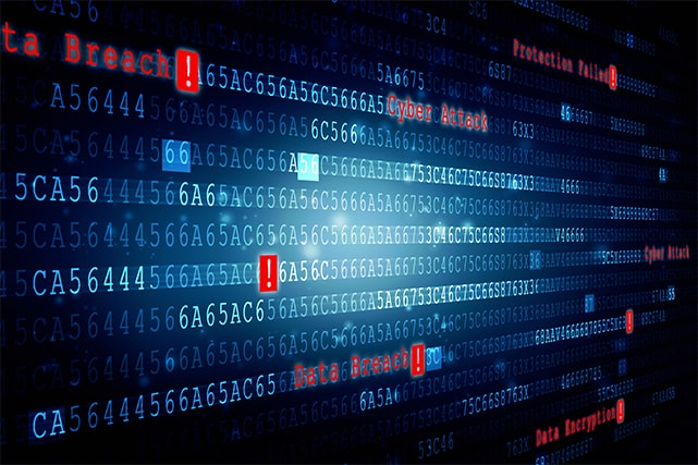 An image featuring data breach concept